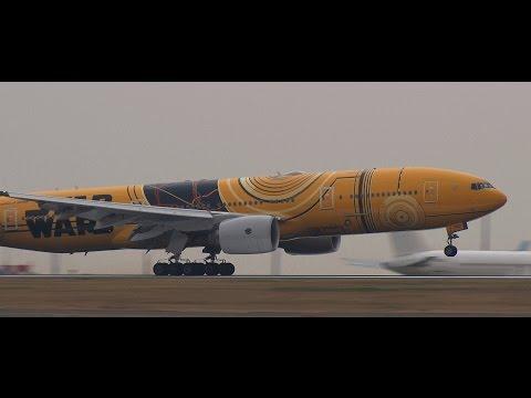 ✈STAR WARS「C-3PO ANA JET」全日空 (All Nippon Airways) Landing Haneda RWY22羽田空港
