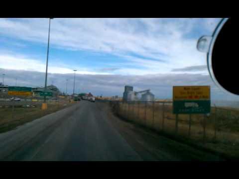 US & Canada border Montana & Alberta