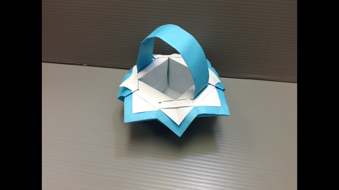 Papercraft Daily Origami: 112 - Fancy Basket