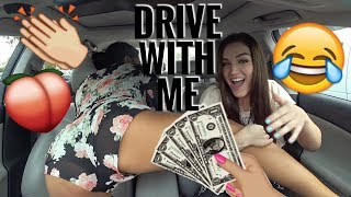 DRIVE WITH ME: TWERKING SPILLS DRINK EVERYWHERE *INTENSE*