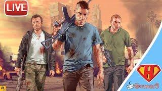 بث مباشر في لعبة حرامي السيارات 5 Grand Theft Auto V PC رمضان كريم ♥