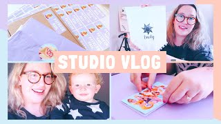 STUDIO VLOG | Trying to Work With A 15 Month Old... | 038
