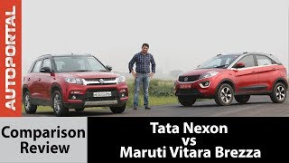 Tata Nexon vs Maruti Vitara Brezza - Test Drive Comparison Review - Autoportal