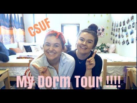 Cal State Fullerton Dorm Tour !!!!!