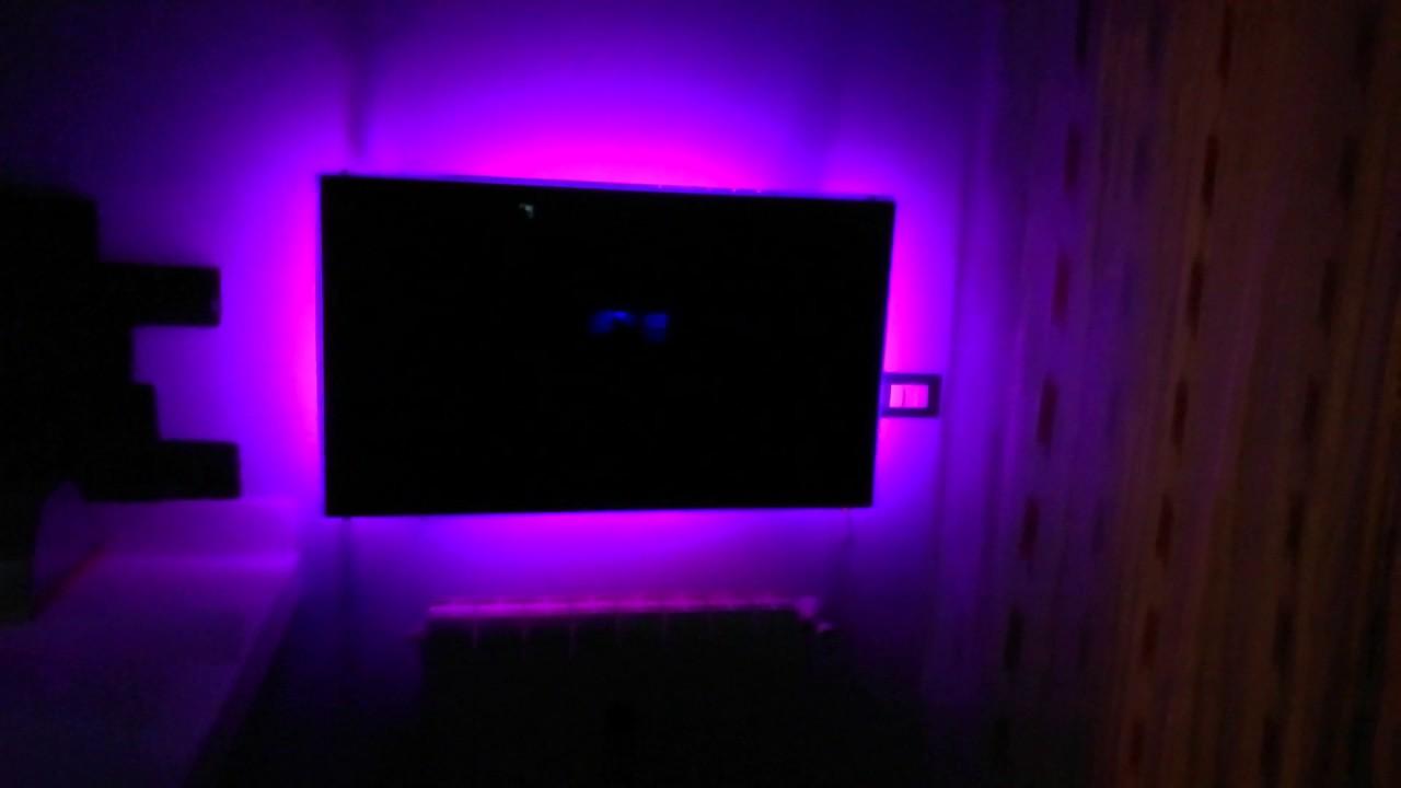 Tv led retroilluminazione rgb si cambia colori