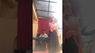Suara emas asal betawi padang dngn lagu Saribu Minang. || ALFINA BRANER