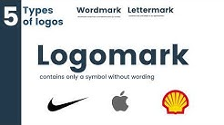 5 types of logos explained. Logomark, wordmark, lettermark, emblem and combination mark