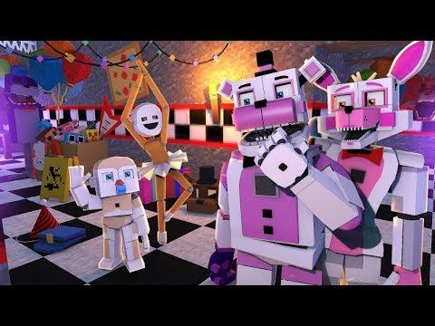Minecraft Fnaf Sister Location Bidybab And Minireena