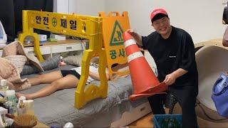 [SUB]술취하면 진상부리는 여사친 잘때 공사판 만들어놨더니 / feat.눈물바다