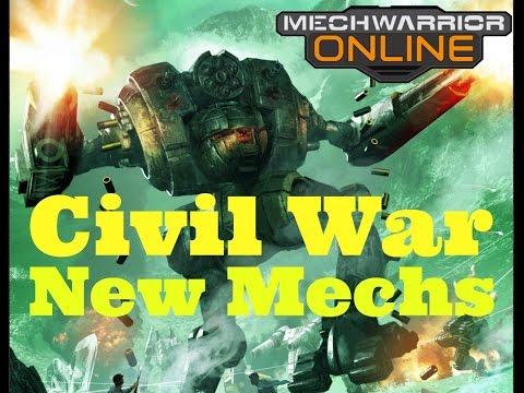 "MechWarrior Online - New Civil War Mechs - ""It has come"""