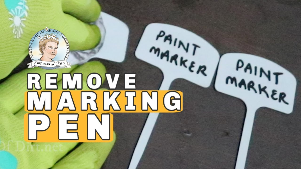 how to remove permanent marker from plastic plant tags youtube