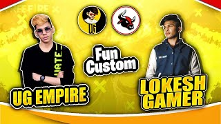 Fun Custom With Diamond King Lokesh Gamer😁❤️Must Watch!!