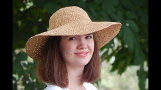 Шляпа из рафии крючком | Часть 1