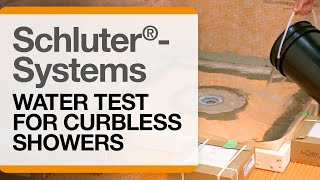 How to Water Test a Curbless Shower