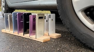 Many Samsung Galaxy vs iPhones vs CAR Video