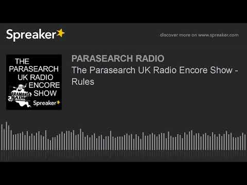 The Parasearch UK Radio Encore Show - Rules