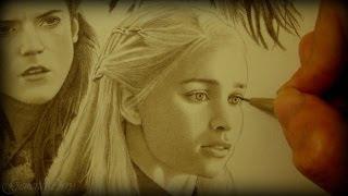 Drawing Game of Thrones: Arya, Sansa, Catelyn, Ygritte, Daenerys, Melisandre, Cersei & Margaery