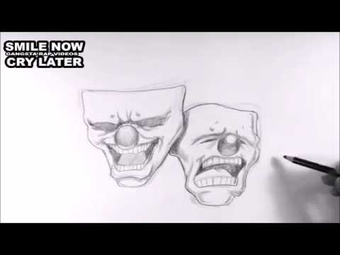 Smile Now Cry Later Faces Speed Drawing Youtube