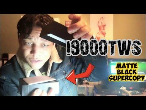 i9000-tws-original-matte-black-super-copy-1:1,-airpods-2-perfect-clone-unboxing