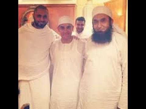 VERY SHOCKING NEWS indian bloywood hero Aamir Khan met Maulana Tariq Jameel at Hajj