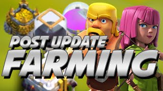 Clash Of Clans | FARMING POST UPDATE PART 1 | LAVALOONION & CASE FOR GRAND WARDEN AT TH10