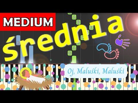 🎹 Oj, Maluśki, Maluśki - Piano Tutorial (średnia wersja) 🎹