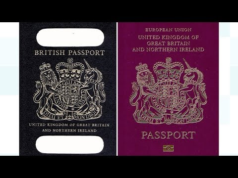 Post-Brexit blue British passports 'to be made in France'   ITV News