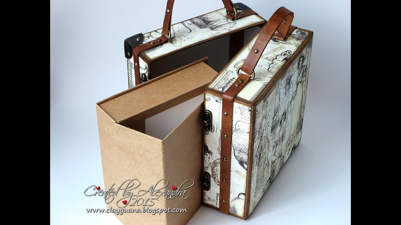 Vintage Suitcase and AlbumTutorial part2 Making the Drawer Album ...