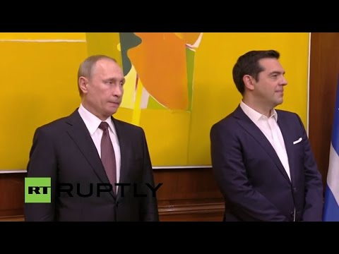 LIVE: Putin holds press conference with Greek PM Tsipras in Athens - ENGLISH audio