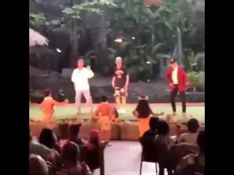 Bts Dancing In Hawaii Taehyung Hoseok And Jimin Hula Dancing