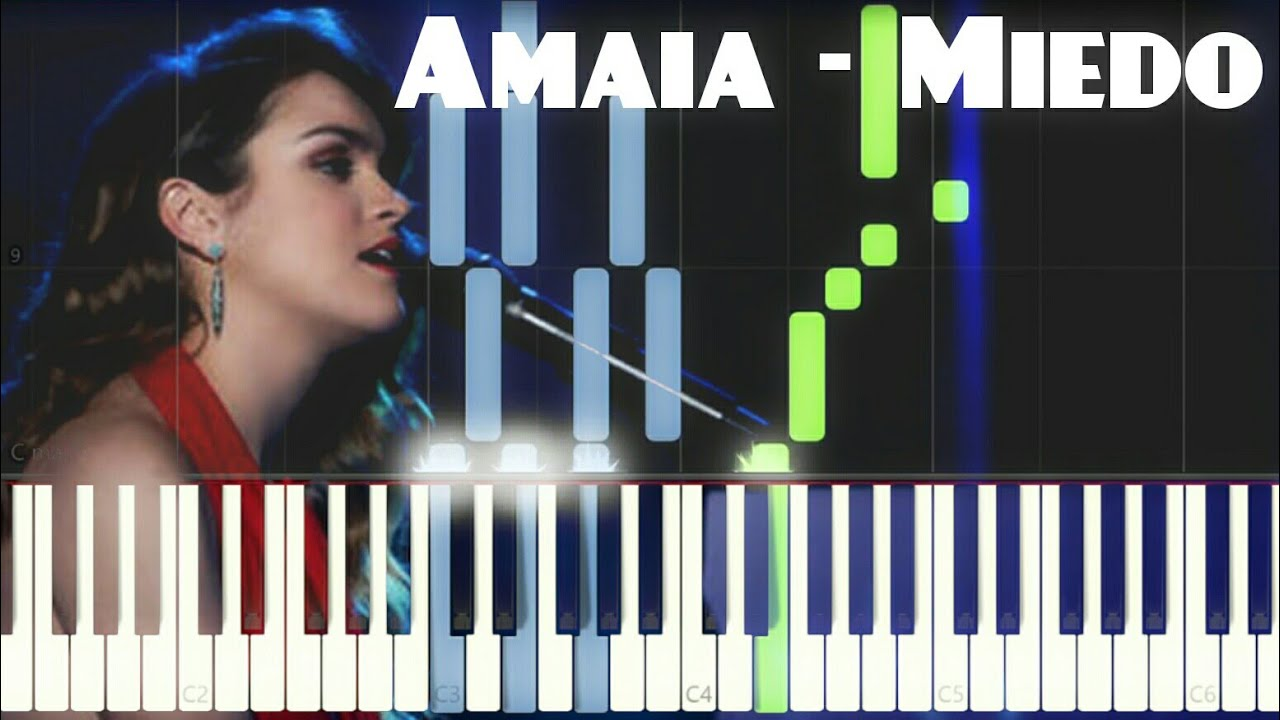 Amaia Miedo Piano Tutorial Youtube
