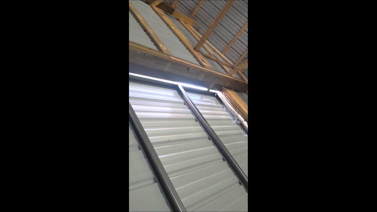 Pole Barn Door Youtube