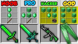 Minecraft NOOB vs. PRO vs. HACKER vs. GOD: EMERALD CRAFTING in Minecraft! (Animation)