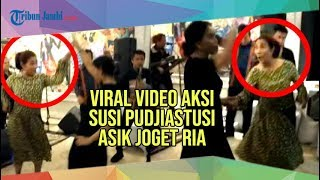 Viral Aksi Nyentrik Susi Pudjiastuti Asik Joget Ria Setelah Pelantikan Jokowi Ma'ruf