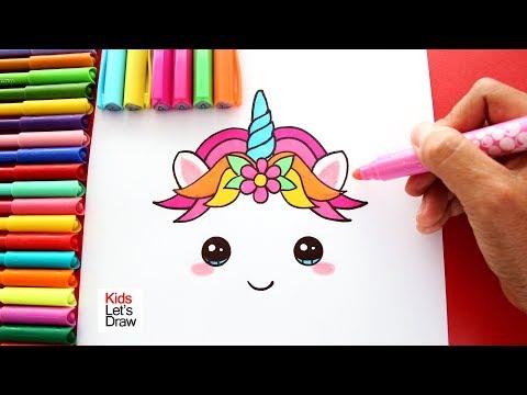 Cómo Dibujar y Colorear UNICORNIO Decorar Torta de Cumpleaños ...