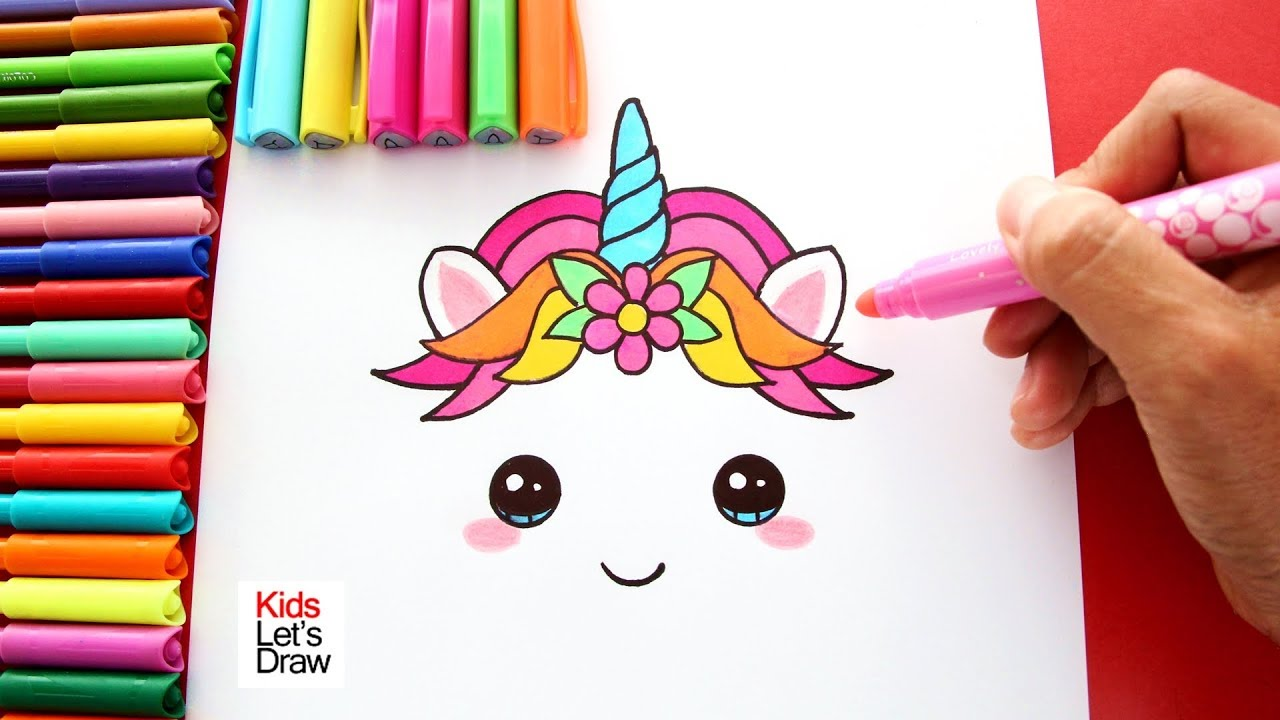 How To Draw And Color A Unicorn Learn Draw Kidsletsdraw