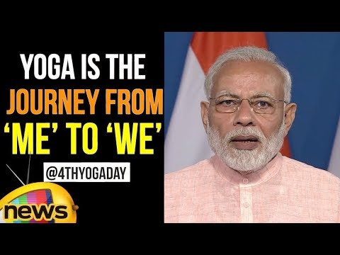 As we approach the 4thYogaDay | Yoga is the journey from 'me' to 'we' says PM Modi | Mango News