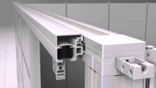 Sapphire Modular Wall System Sliding Door Installation