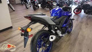2020 Yamaha YZF-R3 in Blue and Gray at Maxeys Motorsports in Oklahoma City