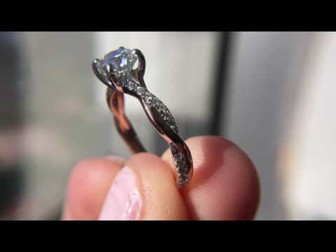 Two Tone Rose Gold Diamond Engagement Ring