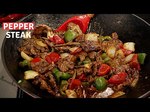 Easy way to make  the tastiest  Pepper Steak recipe for your family  I  cooking stir fry