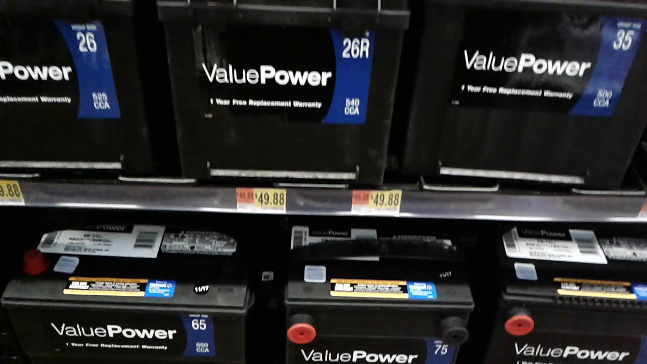Wal-Mart value power car battery 49 88 good deal