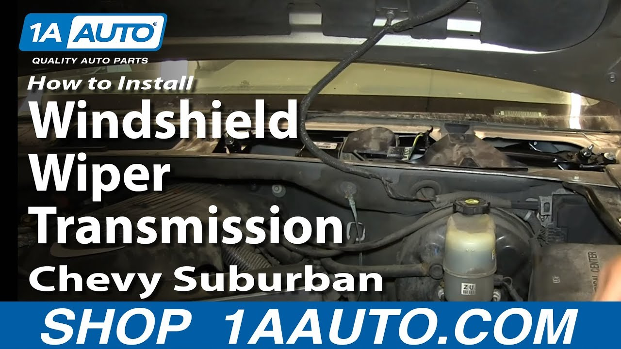 how to replace windshield wiper transmission 99 03 chevy silverado [ 1280 x 720 Pixel ]