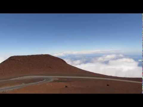 Hawaii Haleakala Volcano to Mauna Kea Volcano Keck Telescope Zoom - Canon SX50 HS