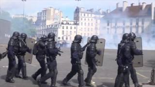 Fête du 1er Mai émaillée d'incidents. Paris/France - 1er Mai 2017
