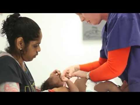 Caring for Aboriginal mothers and babies - newborn examination.