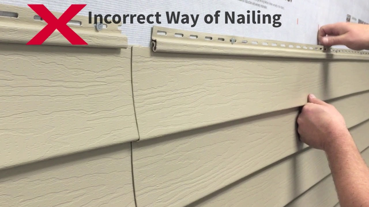 Kaycan Vinyl Siding Installation Tips Nailing You