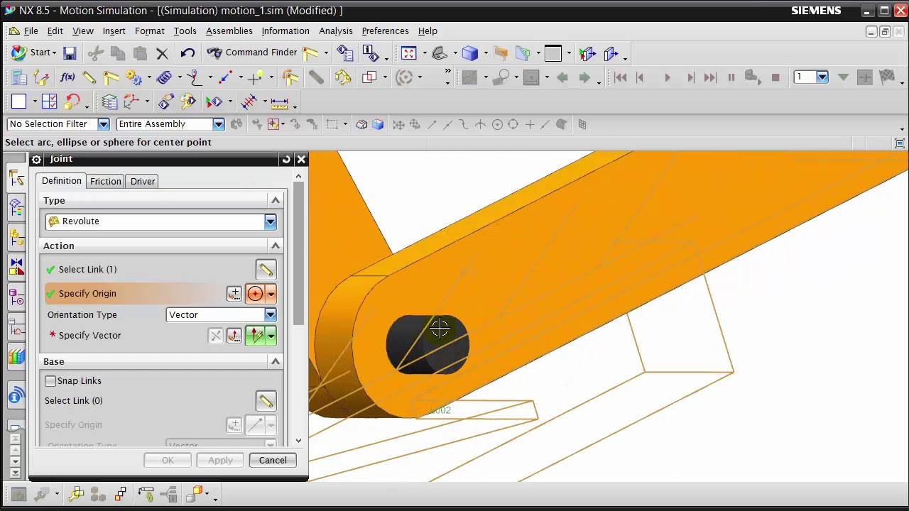NX: Motion Simulation | Inline and Planar Joint