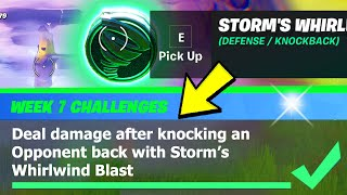 Storm's Whirlwind Blast LOCATION & Deal Damage After Knocking an opponent Back - Fortnite Week 7