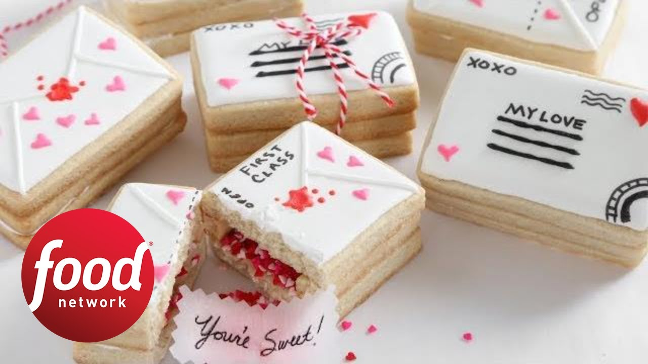 Love Letter Valentine S Day Cookies Food Network Youtube